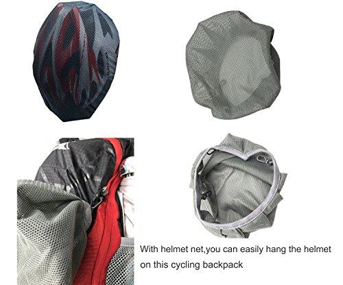 REPHYLLIS Outdoor Professional Fahrradrucksäcke Radfahren Rucksack 15L Nylon Ultra-leichter Wasserdichter Radsport Rucksäcke Wanderrucksäcke Trinkrucksäcke Mit Helm Aufbewahrungsnetz Schwarz