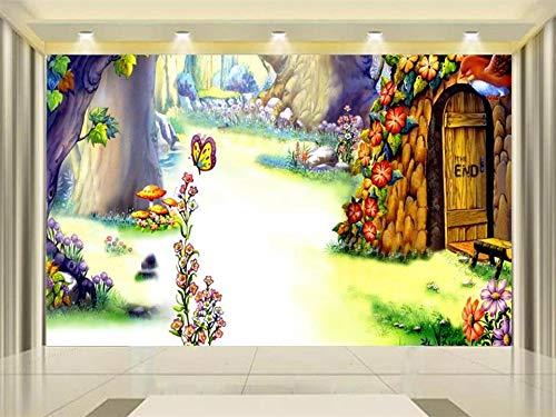 3D Wandbild Foto Tapeten Kinder Wandbild Wohnzimmer Alice Im Wunderland Malerei Sofa Tv Hintergrund Wand Vlies Aufkleber, 400 Cm X 280 Cm (Wunderland Im Tv-alice)