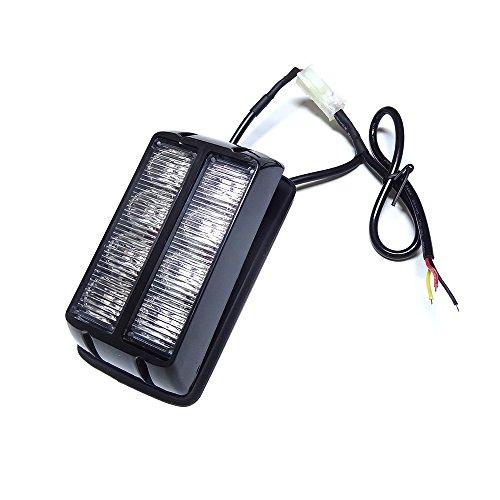 Preisvergleich Produktbild Linchview Frontblitzer Seitenleuchten 8W LED 12V / 24V Auto Warnleuchten Blitzlicht Stand Licht Cargo Truck Strobe Leuchten mit 16 Blitzmuster (8 LEDs 8W) (Gelb)