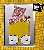 Bettwäsche The Simpsons Bart Bezug 135x200cm Kissen 80x80cm Wendebettwäsche Renforcé 50% Baumwole 50% Polyester