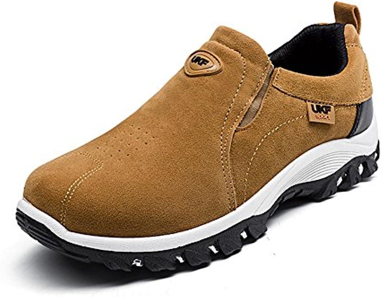 SunnyBaby Sneaker Flache Ferse Beleg der Männer im Freien auf Athletischen Schuhen Leicht (Farbe : Gelb  Größe