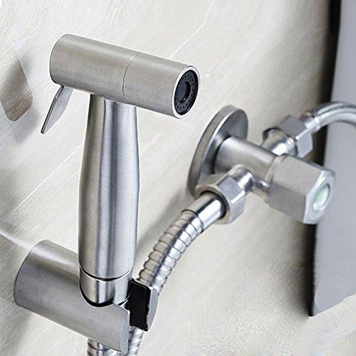 Hand-Bidet-Sprayer, moderne Edelstahl-Sprayer, Edelstahl-Hand WC-und Toiletten-Sprayer, mit Handheld-Leck-frei (Delta-3-funktion Umsteller)