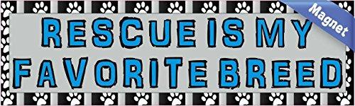 10-in-x-3-in-rescue-is-my-favorite-breed-magnete-magnetico-veicolo-segno