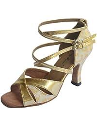 Chaussures Jig Foo dorées femme