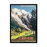 Wee Blue Coo Rail Train Mont Blanc French Alps Railway France Impresión del Arte 12 x 16 Pulgadas