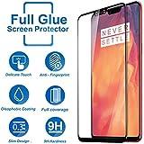 [Sponsored]Systek OnePlus 6 Tempered Glass 5D Full Screen Protector Edge To Edge 9H Glass One Plus 6 Screen Guard [Full Glue, Anti Scratch, Full HD] 1+6 (Black)