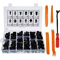 Lictin 240pcs Befestigung Clips Türverkleidung Klammern Stoßstangen Befestigung Clips Set mit Lösewerkzeug