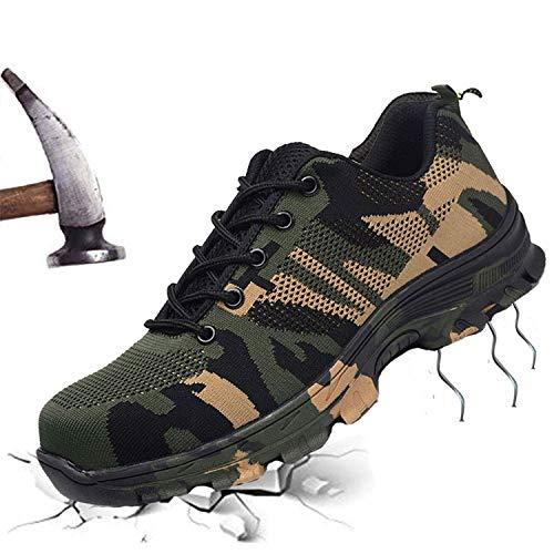 TongCart Camouflage Stahl Kappe Schuhe Männer Arbeiten Stiefel Atmungsaktiv Arbeit Sicherheit Schuhe für Mann Stahl Punktion Beweis BAU Sicherheit Stiefel