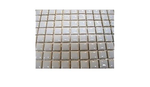 Mercury Ceramic Glazed 81  Mosaic Tiles 10 x10 x 4mm Tessera