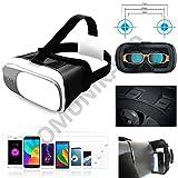 Casque réalité virtuelle Bluetooth 360° - lunettes 3D réglables - Professional VR BOX pour smartphones Android et téléphones Apple iOS 4 à 6 pouces Samsung S6, Nexus 5x, 6P, iPhone 6 / 6S / 7