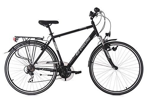 KS Cycling Herren Trekkingrad Montreal RH 58 cm Fahrrad, Schwarz, 28