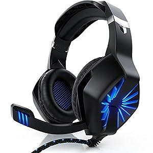 CSL – Gaming Headset für Xbox One Xbox One S Xbox One X PC PS4 PS4 Pro – Klinkenanschluss 3,5mm – Klinke Kopfhörer mit…