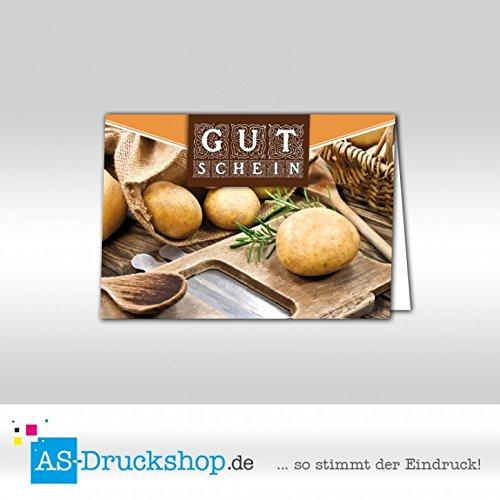 Gutschein Hofladen – Kartoffeln / 25 Stück/DIN A6