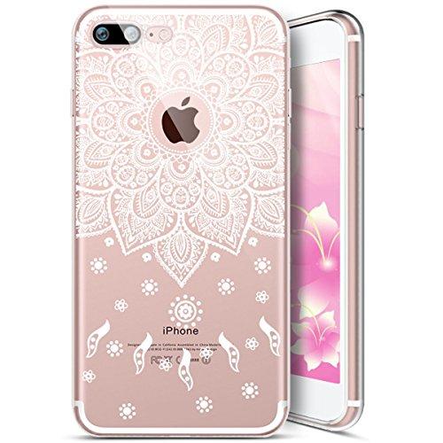 EUWLY Cover per iPhone 7 Plus/iPhone 8 Plus (5.5), EUWLY Case per iPhone 7 Plus/iPhone 8 Plus (5.5) Silicone Soft TPU Crystal Clear Custodia Cover Premium Trasparente Protettivo Custodia Case Modell Modello # 8