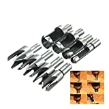 reamtop 8Zimmerei Holz Plug Cutter Gerade & konisch Claw Typ Bohrer Cutter Sets
