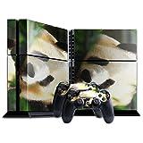 Wilde Tiere 174, Panda, Designfolie Sticker Skin Aufkleber Schutzfolie mit Farbenfrohem Design für Playstation 4 CUH 1200