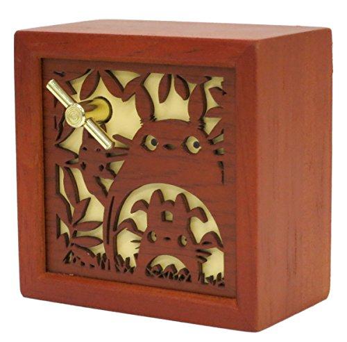 Ghibli My Neighbor Totoro wood carving relief BOX type Music Box Totoro Carving Japan