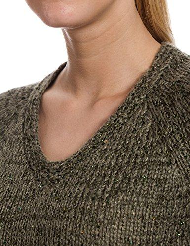 Timezone Damen Pullover 18 - 6037, Einfarbig Grün (urban olive 4178)