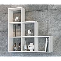 YAMAN Mensola da muro - Bianco -