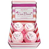 Bath Bombs Gift Set Luxury Bath Fizzies 4 Ultra Large Size 175g Natural Bath Balls Love Bomb