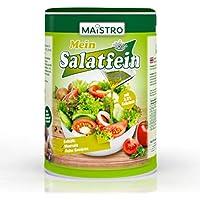 Aderezo vegano para ensalada con hierbas y ácido cítrico. No necesita vinagre 200g / 1.2 litros. Preparado rápidamente, versátil. Ensalada MAISTRO fina 200g