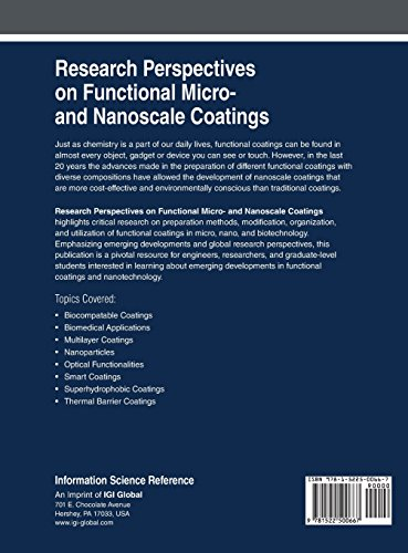 Research Perspectives on Functional Micro- and Nanoscale Coatings (Advances in Chemical and Materials Engineering)
