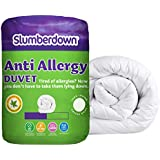 Slumberdown Anti Allergy 10.5 Tog Duvet -Single Bed, White