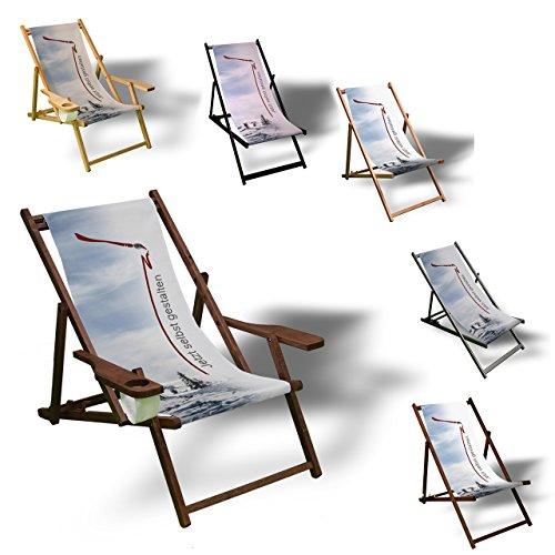 Liegestuhl zum selbst gestalten - Sonnenliege Balkon Terrasse Relaxliege aus Holz oder Aluminium...