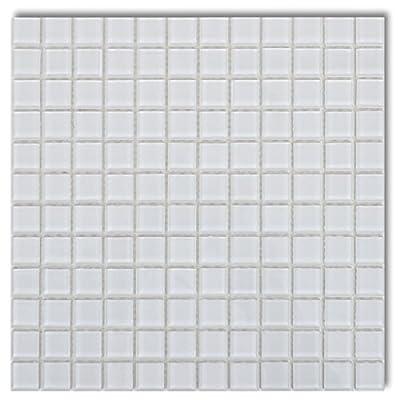 20x Glass Mosaik Fliesen weiß 1,8 qm von vidaXL auf TapetenShop