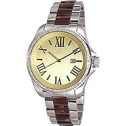 Adee Kaye Unisex Panthera 45.8mm Multicolor Steel Bracelet & Case Quartz Gold-Tone Dial Watch AK6365-L-L/Y