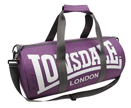 Londsdale - Cesto de deporte, 26 x 52 x 26 cm, color violeta