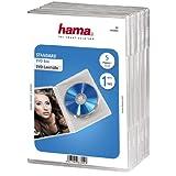 Hama Boîtier Standard pour Dvd, Lot de 5, Transparent
