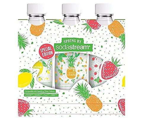 SodaStream Spring édition limitée Pack d'origine 3x bouteilles 1 l