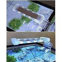 BPS® Lámpara de Acuario LED Iluminación Luces para Plantas Sumergible Luz Blanco y Azul 2 Modelos para Elegir 4W/8W (4W: 150 x 40 mm) BPS-6871