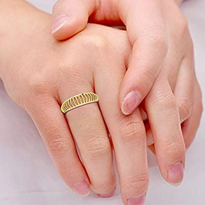 Candere By Kalyan Jewellers 22k (916) Yellow Gold Lisa Ring
