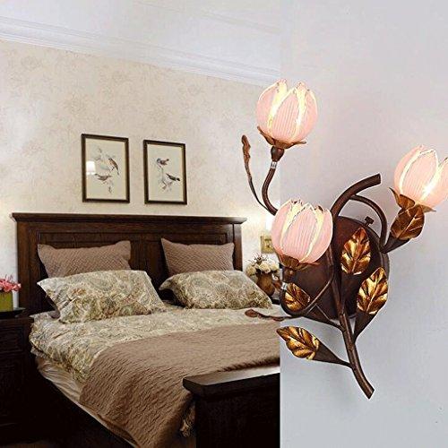 ZHAS Beleuchtung Amerikanischen minimalistischen Wohnzimmer Wandleuchte gang Studie Schlafzimmer Bett Eisen rustikale retro Continental kreative Kunst an der Wand (Farbe: - Rustikale Wand-kunst