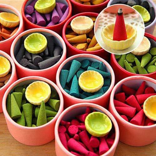ALEMIN Haushalt Natural Reflux Tower Räucherstäbchen, Flower Fragrant Reflux Aromatherapy Cones für das Auto nach Hause, Bücherraum, Yoga-Raum, Jasmin-Aroma -