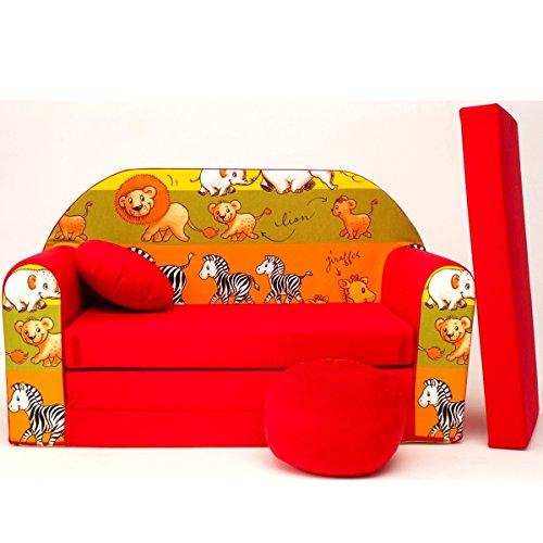 Barabike D2l + Canapé d'enfant bébé Canapé Mini Canapé Canapé lit Pouf Lot de 3 en 1 d'oreillers en Mousse