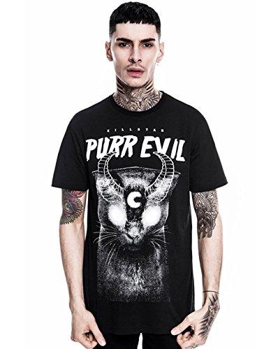 Killstar Okkult Herren T-Shirt - Purr Evil Mens Tee XXL (Teufel Mens Tee)