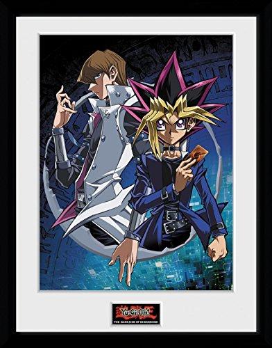 1art1 106802 Yu-Gi-Oh! - Dsod Yugi And Kaiba Gerahmtes Poster Für Fans Und Sammler 40 x 30 cm