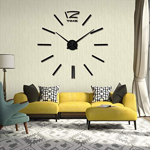 Daingjiang Reloj de Pared de acrílico Digital DIY Moderno Reloj de Pared Redondo Espejo de Moda Reloj...