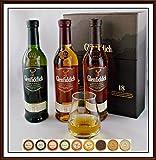 3 x 200ml Glenfiddich Whisky im Geschenk Karton mit Spey Tumbler & Edel Schokoladen, kostenloser Versand