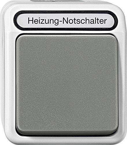 Merten MEG3448-8029 Heizungs-Notschalter, Aus/Wechsel, 1-polig mit Ko.Licht, lichtgrau, AQUASTAR -