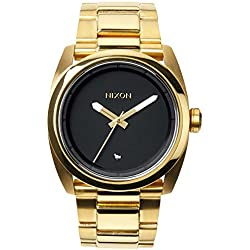 Nixon Kingpin A507513-00 - Reloj para mujeres, correa de acero inoxidable color dorado