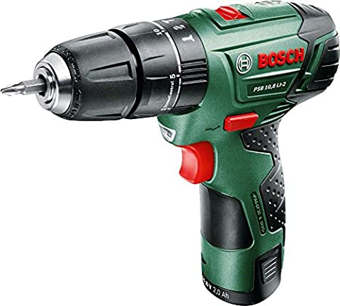 Bosch PSB 10.8 LI-2 Cordless Combi Drill with 10.8 V