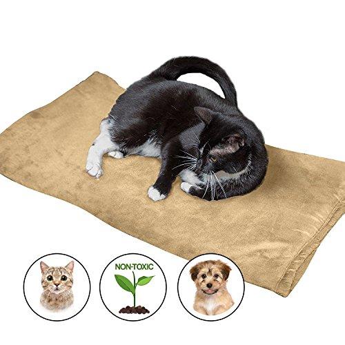 Cama térmica grande para mascotas - La mejor opción para perros y gatos - 100% aconsejable para mascotas y colchoneta blanda para mascotas XL - Cojín protector de sofá para mascotas Beige