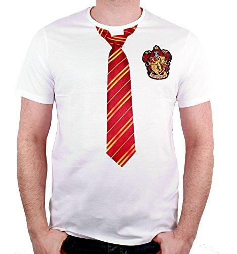 Harry Potter Herren T-Shirt Gryffindor Lookalike weiß Baumwolle Weiß