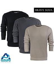 Brave Soul - Pull - Col Ras Du Cou - Manches Longues - Homme XL