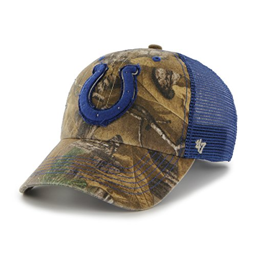 NFL '47 Huntsman Closer Camo Mesh Stretch Fit Hat, Unisex, Realtree Camouflage, One Size Stretch Camo Mesh-back Baseball Kappe