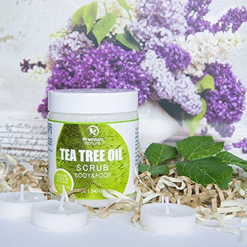 Premium Nature Antimykotische Tee-Baum-Körper & Fuß Peeling - 12 Oz 100{8ecd692cf392486e1a9b81b81aa7fd766690cb5b90ec1b6c10d29d95cdda642d} Natürliche Antibakterielle Exfoliator - Beste Pilzartige Behandlung Verhindert Akne Schuppen Schwielen Fußpilz Jock Itch
